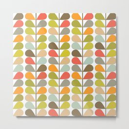 Retro Mid Century Modern Pattern 3 Metal Print
