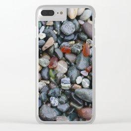 Ocean Pebbles Clear iPhone Case