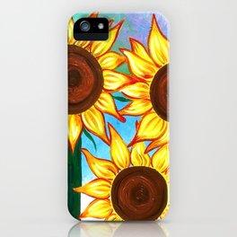 Three Sunflowers iPhone Case
