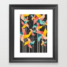 Colourful Pinwheels Framed Art Print