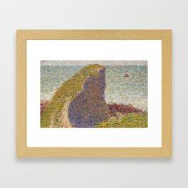 Study for Le Bec du Hoc, Grandcamp Framed Art Print