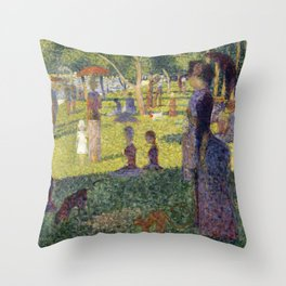 "Georges Seurat ""A Sunday on La Grande Jatte (study)"" (1884-85) Throw Pillow"