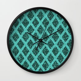 emerald rhombus Wall Clock