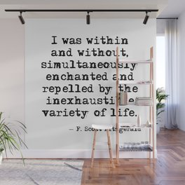 Within and without - F Scott Fitzgerald Wall Mural