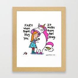 Unicorn Farts Framed Art Print
