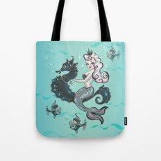 Pearla on Seahorse Tote Bag