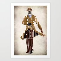 rorschach Art Prints featuring Rorschach by Ayse Deniz