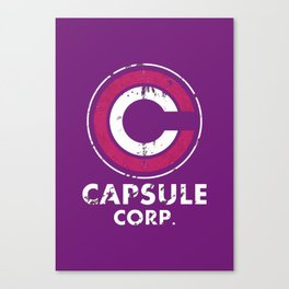 Capsule Corp Vintage pnk and white Canvas Print