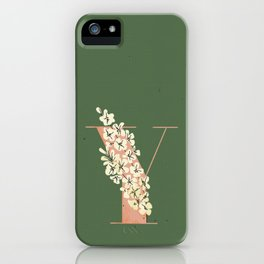 Y for Yellow-Eyed Grass iPhone Case