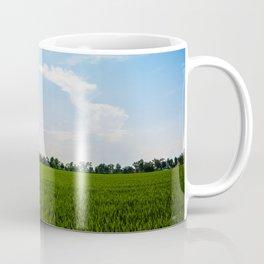 Blue over green Coffee Mug