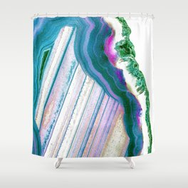 Agate Geode Shower Curtain