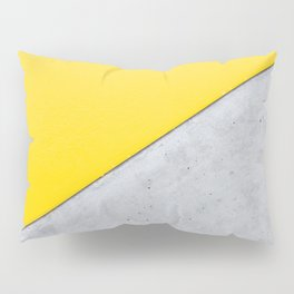 Yellow & Gray Abstract Background Pillow Sham