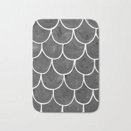 Grey chalk roof tiles Bath Mat