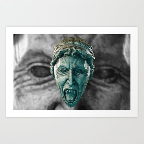 Doctor Who Angry Angels!  Art Print
