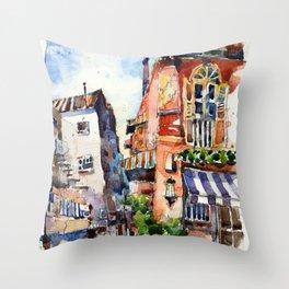 Sunset at Club Street Throw Pillow