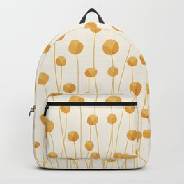 Abstraction_YELLOW_LITTLE_FLOWERS_ART_Minimalism_001A Backpack