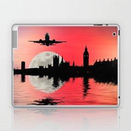 Night flight over London Laptop & iPad Skin