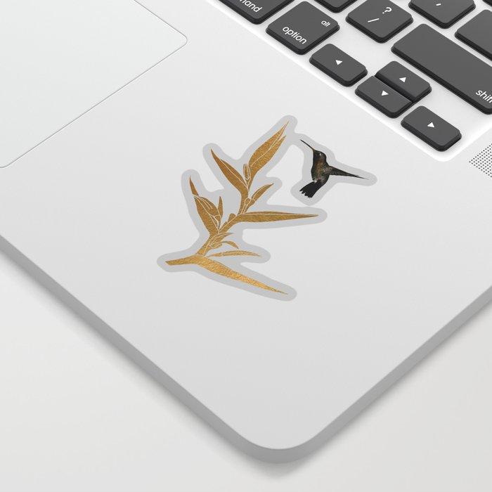 Hummingbird & Flower II Sticker