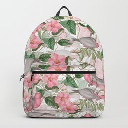 Vintage & Shabby Chic - Pink Flower Dance And Birds Backpack