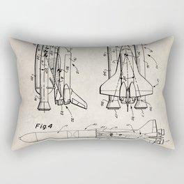 Nasa Space Shuttle Patent - Nasa Shuttle Art - Antique Rectangular Pillow