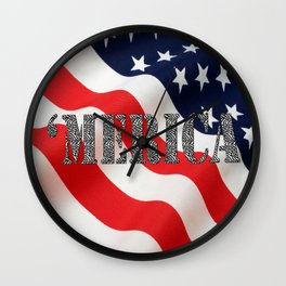 Girly 'Merica  Wall Clock
