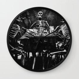 Six Skeletons Smoking Wall Clock