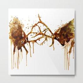 Elks Fight Metal Print