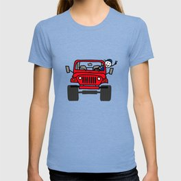 Jeep Wave Boy - Red T-shirt