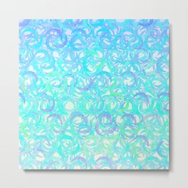 Ocean Crescents Metal Print