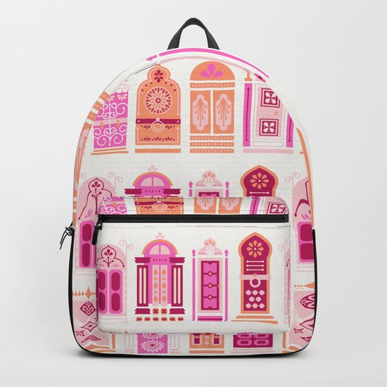 Moroccan Doors – Peach Palette Backpack