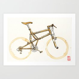 Coffee Wheels #16 Art Print