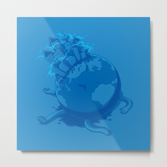 Dying planet Metal Print