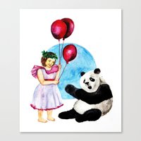 balloons Canvas Prints featuring Balloons by Anna Shell