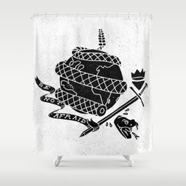 Be Not Afraid In This World Shower Curtain