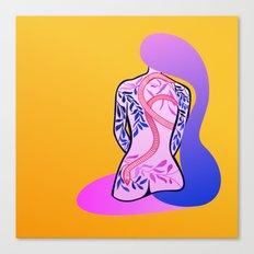 series tattoos: Akiko Canvas Print
