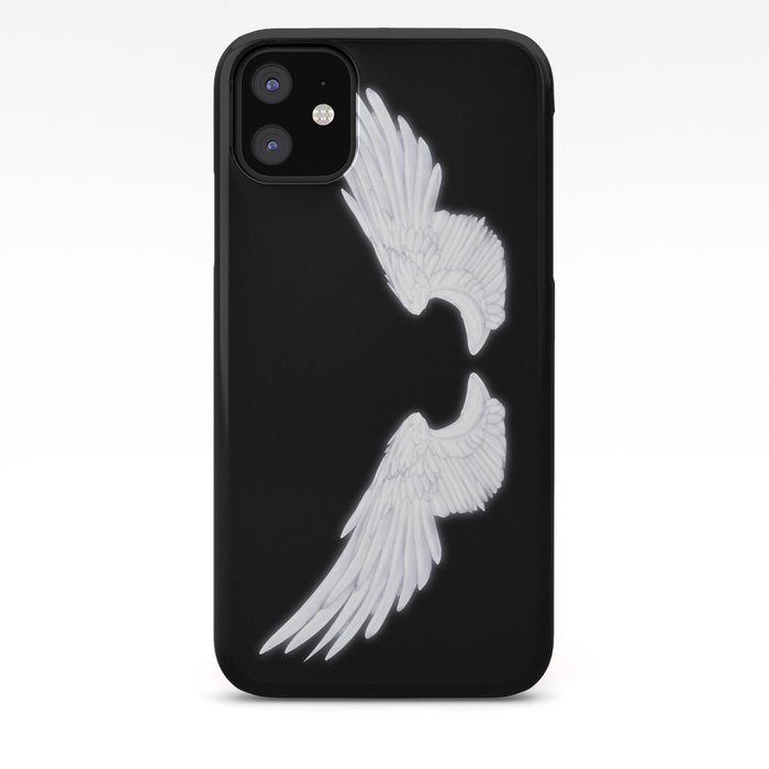 White Angel Wings Iphone Case By Falln