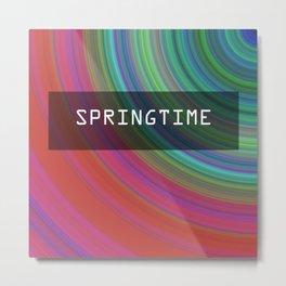Spring airs. Circles of spring colors. Metal Print