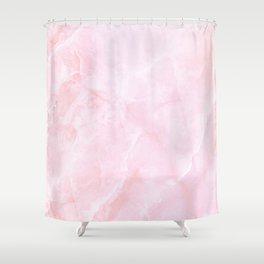 Sugar Pink Marble Shower Curtain