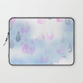 April Showers Rain Drops Laptop Sleeve