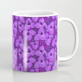 Puya Flowers Botanical Floral Pattern Violet Orchid Coffee Mug