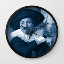 "Frans Hals ""Portrait of Isaac Abrahamsz"" edited Wall Clock"