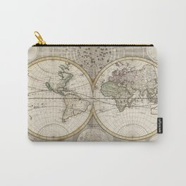 Vintage Map of The World (1687) Carry-All Pouch