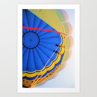 hot air balloon Art Prints featuring BALLOON LOVE - Hot Air Balloon by Brian Raggatt