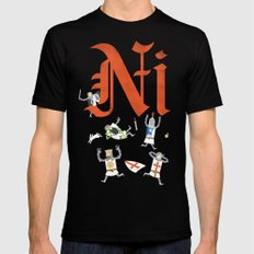 Ni! LARGE Mens Fitted Tee Black