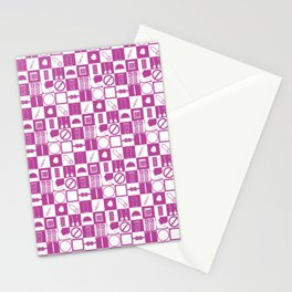 Contraception Pattern (Purple) Stationery Cards