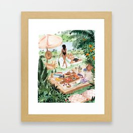 Picnic In the South of France Framed Art Print