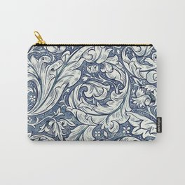 William Morris Navy Blue Botanical Pattern 3 Carry-All Pouch