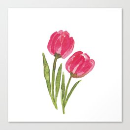Pair of Tulips Canvas Print