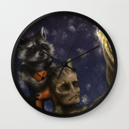 Rocket and Groot. Wall Clock