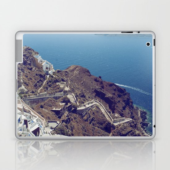 Santorini Stairs Laptop & iPad Skin